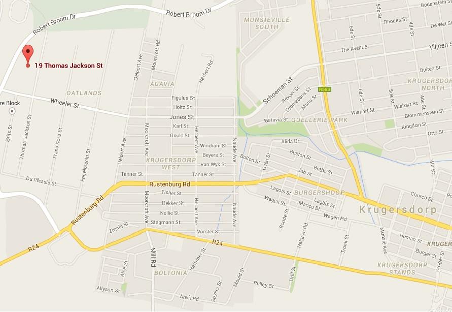 Krugersdorp Map
